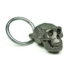 Homo erectus Skull, Prehistoric Man Pewter Pendant