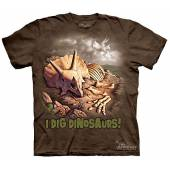 Triceratops Skeleton - I Dig Dinosaurs, T-Shirt by The Mountain