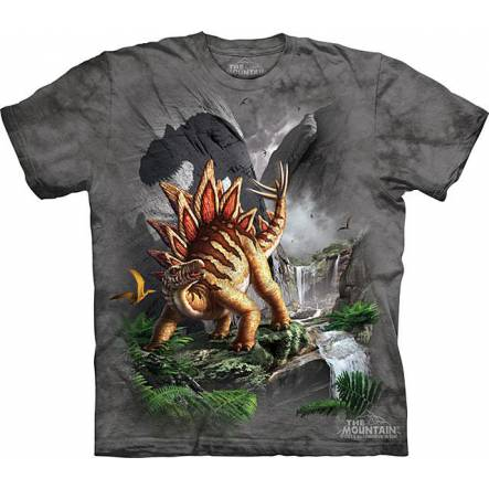 Stegosaurus - Against the Wall, Dinosaur T-shirt by The Mountain