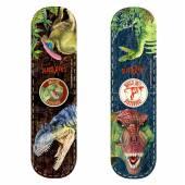 Magnetic Dinosaur Bookmarks, T-Rex + Allosaurus
