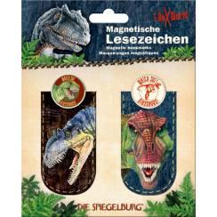 Magnetische Lesezeichen, T-Rex + Allosaurus
