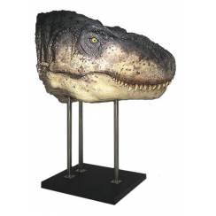 T. rex head II, lifesize
