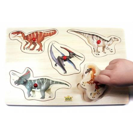Dino-Steckpuzzle 2 für kleine Kinder