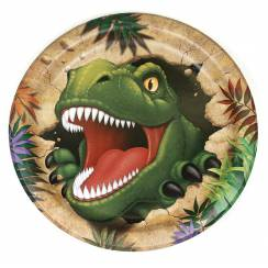 Dinosaur Cardboard Plates, Dino Party Garniture