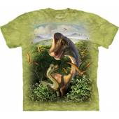 Brachiosaurus mit Jungtier, Dinosaurier T-Shirt The Mountain