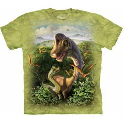 Brachiosaurus with young, Dinosaur T-Shirt by The Mountain
