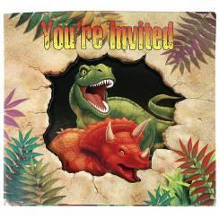 Dino-Einladungsklappkarten