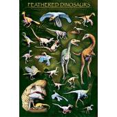 Feathered Dinosaurs, Dinosaurier Poster von EuroGraphics