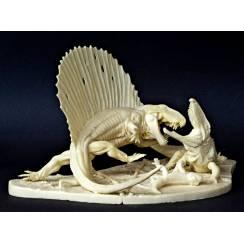 Dimetrodon vs. Ophiacodon, Model Kit by Vitali Klatt