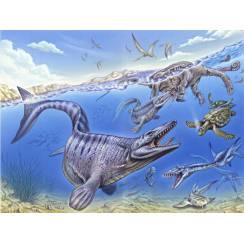 Iembe - kreidezeitlicher Ozean, Dinosaurier Poster von Fabio Pastori