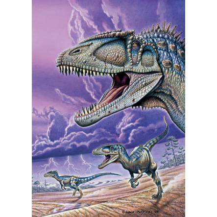 Carcharodontosaurus, Dinosaurier Poster