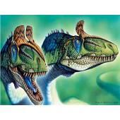 Cryolophosaurus, Dinosaur Poster by Fabio Pastori