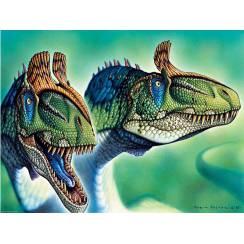 Cryolophosaurus, Dinosaurier Poster von Fabio Pastori