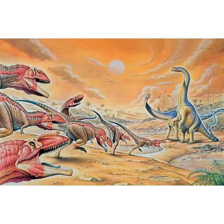 Mapusaurus & Argentinosaurus, Dinosaurier Poster