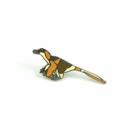 Velociraptor Pin, Dinosaur Sticker by Palaeoplushies