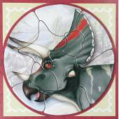 Magnetisches Triceratops-Puzzle, Dinosaurier