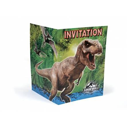 Einladungsklappkarten Jurassic World