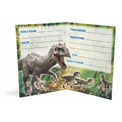 Dinosaur Invitation Cards - Jurassic World, Dino Party Accessory