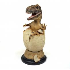 T-Rex 'Rudy' schlüpfend, Dinosaurier Modell von Rebor