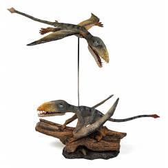 Dimorphodon Diorama 'Punch & Judy', Flugsaurier von Rebor