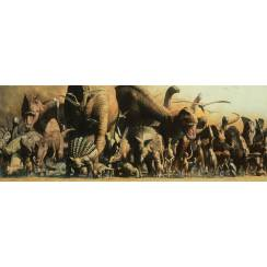 Dinosaur Panorama Poster, 91.5 x 32 cm, by Safari Ltd.