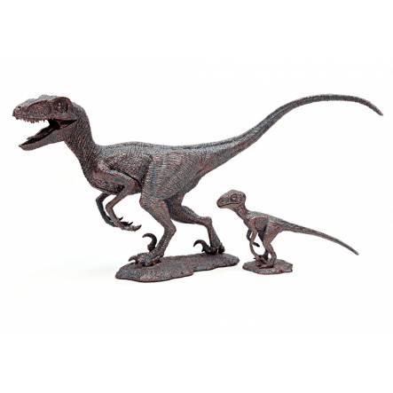 Velociraptor 'Winston & Stan', Dinosaurier Modell von Rebor