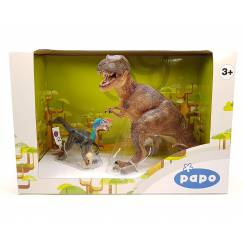 T.Rex & Oviraptor, Dinosaur Set by Papo