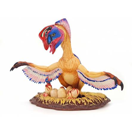Oviraptor auf Nest, Dinosaurier Safari Spielzeug