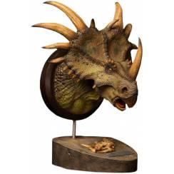 Styracosaurus, Dinosaur Bust - green - by Damtoys
