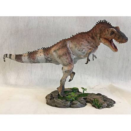 T. rex attacking, striped, Dinosaur Model